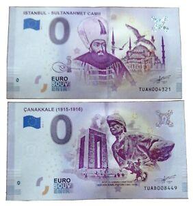 2 X 0 Euro Souvenir - Different Serial - TUAD en TUAH