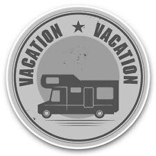 2 x Vinyl Stickers 10cm (bw) - Camper Van Bus Motorhome Camping  #40699