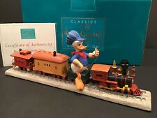 """NEW WDCC Donald Duck """"Backyard Whistle Stop"""" from Disney's Out of Scale NIB COA"""