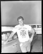 "N369 1960'S NEGATIVE..DRAG RACING NHRA, JIM "" SUPERMAN"" NICHOLL AND PRETTY LADY"