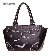 BANNED Clothing pvc sac à main en cuir synthétique sac Gothique Chauves-souris blanc