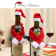 2/10 Set christmas santa wine bottle bag cover xmas dinner party table decor  BD