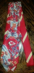 Vintage NFL FOOTBALL Kansas City Chiefs Original Ralph Marlin Sports Necktie