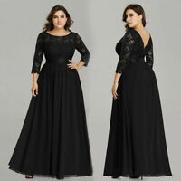 Ever-Pretty US Plus Size Black Formal Evening Gown Mother Of Bride Dress 07412