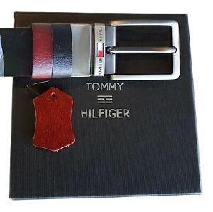 Tommy Hilfiger Twin Tone Reversible Genuine Leather Belts For Men - Adjustable