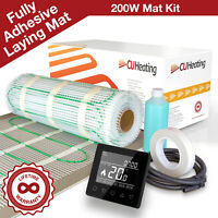 Electric Under Laminate Wood Foil Underfloor Heating Mat Kit 2m sq, Touch Screen Thermostat