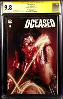 DCEASED #3 CGC SS 9.8 DELL'OTTO VARIANT WONDER WOMAN ZOMBIE BATMAN SUPERMAN DC