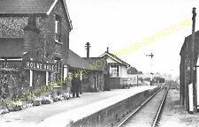 Holme Hale Railway Station Photo.  Swaffham - Watton. Thetford Line. (2)