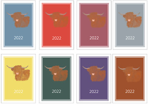 Highland Cow 2022 A5 Week Per View Diary NORMAL/DOG SHOW DATES/APPOINTMENT