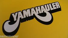 YAMAHAULER 8 inch wide decal, sticker BLACK AND WHITE premium vinyl