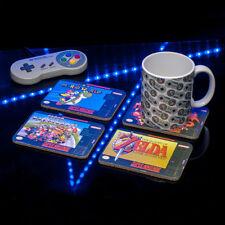 New Super Nintendo SNES Coasters napperons Set britannique Officiel Boisson Anti Déversement