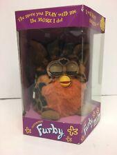 Rare Furby Electronic Pet Brown, Black & Orange Leopard Hasbro 1999. Boxed New.
