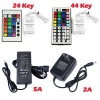 HOT DC 12V 2A / 5A Power Supply Adapter Transformer LED 24/44 keys IR Remote RGB