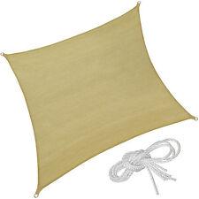 Voile d'ombrage rectangle protection UV solaire toile tendue parasol 4x4 m