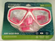 Speedo Surf Gazer Mask Kids Ages 3-8 Pink and White - New