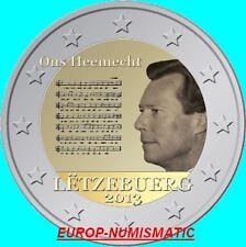 "LUXEMBOURG 2013 2 EURO CC "" HYMNE NATIONAL ""   PREVENTE   PRIX TOP :  3,95 €"