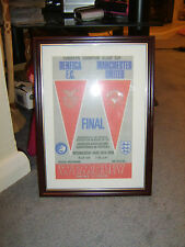 FRAMED CANVAS PRINT OF 1968 EUROPEAN CUP FINAL - MANCHESTER UNITED V BENFICA