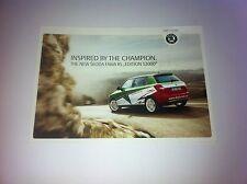 CP POSTCARD CARTOLINA SKODA FABIA RALLY RALLYE WRC 2009