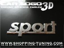 LOGO EMBLEM CHROME 3D TUNING CITROEN SPORT ADHESIF ABS
