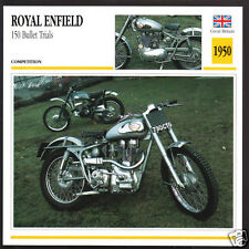 1950 Royal Enfield 150 Bullet Trials 346cc Motorcycle Photo Spec Sheet Info Card