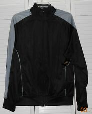Simply for Sports Black w/classic gray Warm Up Jacket Size Small NWT