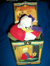 UNCLE SCROOGE McDUCK Musical JACK Music BOX Enesco MICKEY CHRISTMAS CAROL Disney