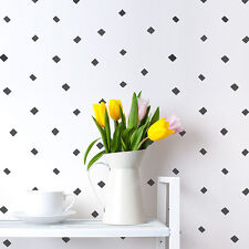 Little Diamonds Allover Stencil - LARGE - Modern Wall Pattern  - DIY Home Decor