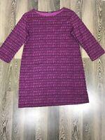 Marimekko Womens Dress Top Size L 3/4 Sleeve With 2 Pockets Tunica Purple Violet