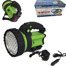 37 LEDs Rechargeable Lamp hand torch 6 hour with mains or car Charge 2400LUX