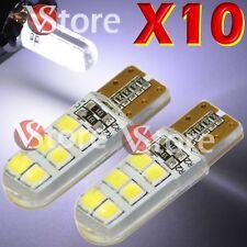 10 LED T10 Lámparas Gel Sílice COB Can-bus 12 SMD BIANCO Luces No Error Xenón