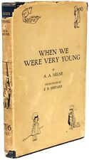 A. A. Milne - When We Were Very Young - 1924 - FIRST EDITION WITH THE DJ!