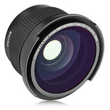 Opteka .35x Wide Angle Macro Lens for Fuji X-H1 Pro3 Pro2 A7 A5 T3 T30 XF10 X70