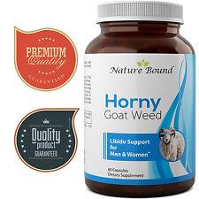 Horny Goat Weed (1000mg) Maca, Tongkat Ali, Saw Palmetto, Ginseng 60 capsules