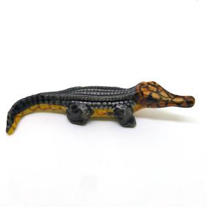 ceramic crocodile statue dollhouse figurines ornament  animal vintage miniature