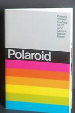 Polaroid Sonar One Step SX-70 Land Camera Special Edition 1978 Instruction Book