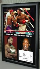 """Lennox Lewis. Boxing World Champion Framed Canvas Print Signed """"Great Gift"""""""