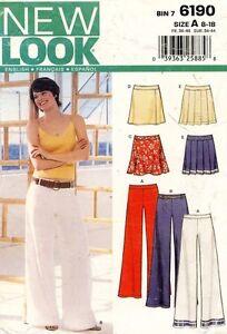 New Look Misses' Pants,Skirt Pattern 6190 Size 8-18 UNCUT