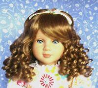 Kemper MADELINE Auburn Full Adj. Cap Doll Wig Size 14-15 Long Curly fis My Twinn