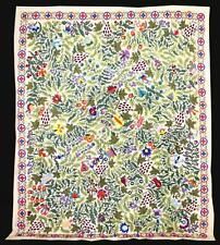 STUNNING LARGE UZBEK SILK EMBROIDERY TRADITIONAL SUZANI FROM BUKHARA A9724