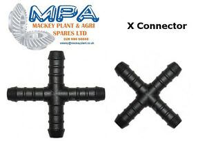 X-PIECE JOINT HOSE MENDERS: 4M-16MM TUBING FITTINGS AIR FUEL WATER OIL CONNECTOR