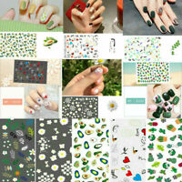DIY Manicure Decal Cactus Heart Nail Art Stickers Water Transfer Tips Decoration