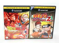 DragonBall Z Budokai + Naruto 2 Clash of the Ninja: Nintendo GameCube Battle LOT