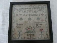 More details for small antique georgian victorian sampler 5 1/4