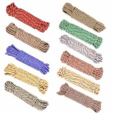 "65 FT x 5/16"" Utility Outdoor Braided Multi Purpose 8mm Sort Rope Assorted Color"