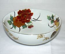 "Asian Porcelain Serving Bowl Beautiful Floral Design 9 1/2"" Round"
