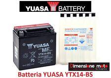 Batteria YUASA YTX14-BS 12V-12Ah per PIAGGIO MP3 LT 250 dal 2009 al 2010