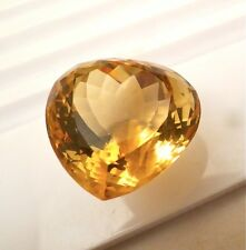 97 CTS NATURAL CITRINE HEART SHAPED GEMSTONE FOR PENDANT
