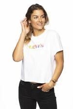 Levi's Women T-Shirt White Multicolored Logo Graphic Varsity Tee New 69973-0207