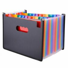 Expanding File Folder Colorful 24 Pockets Organizer Office Document Holder A4