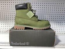 Timberland 6 Inch Premium Boots Mens Size 10.5 Green Nubuck A1M72 Waterproof